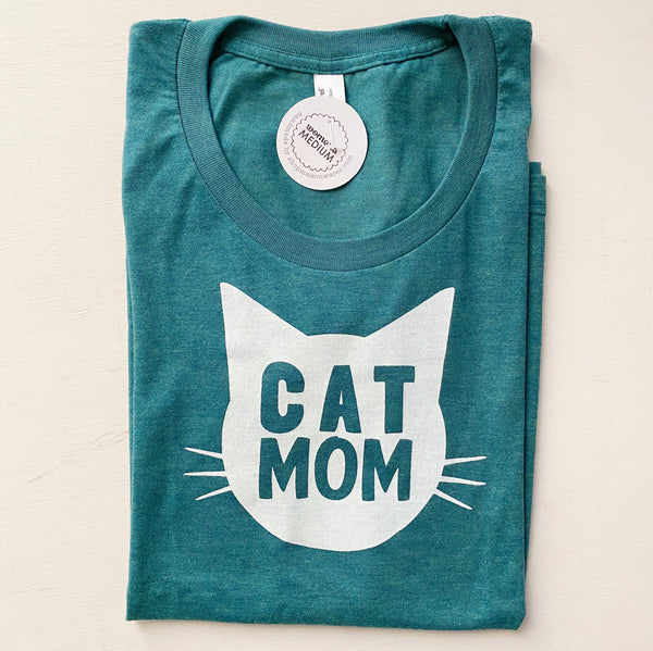 Cat Mom Shirt in Green