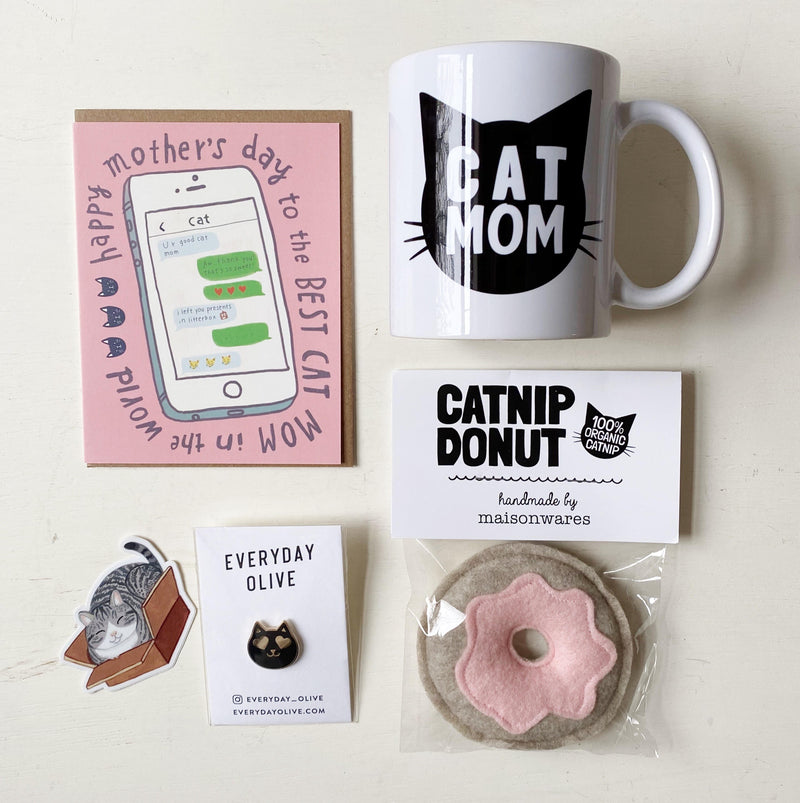 Cat Mom Mother's Day Gift Set