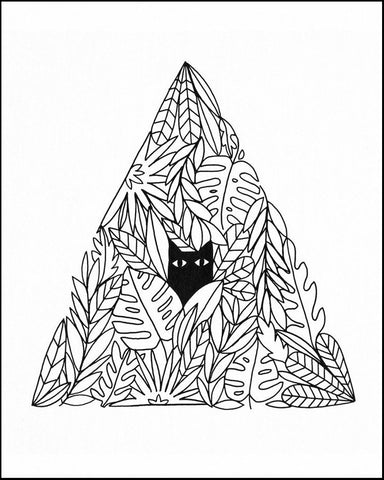 Cat Pyramid Art Print