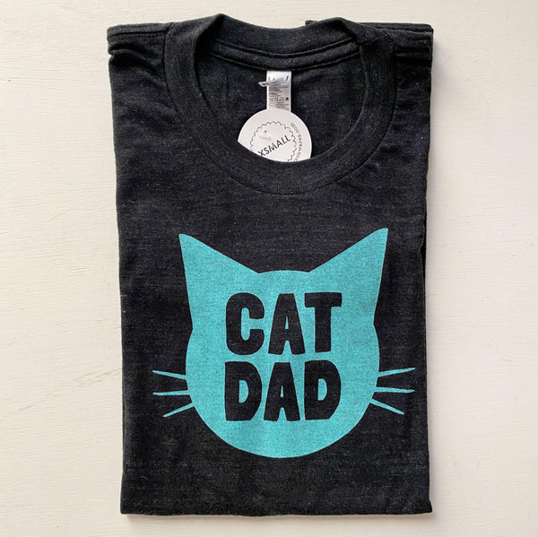 Cat Dad Shirt in Dark Grey