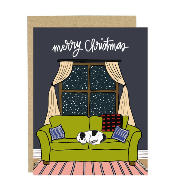 Christmas Cuddle  Dog greeting Card