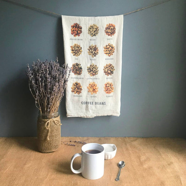 Coffee Beans Tea Towel