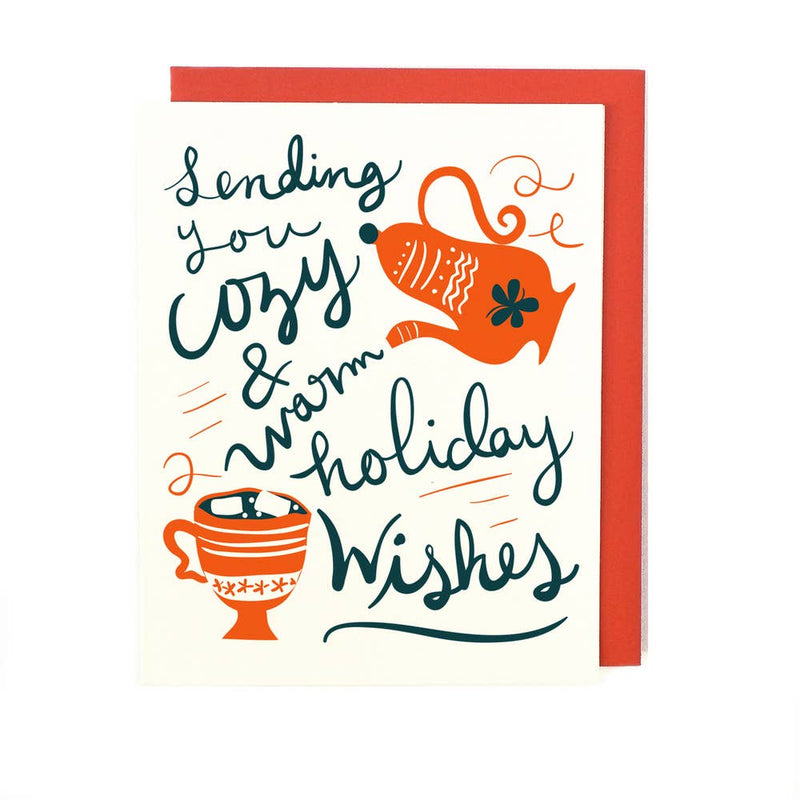 Cozy and Warm Holiday Wishes Card