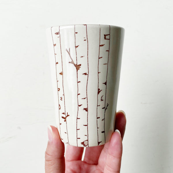 Birch Trees Ceramic Cup