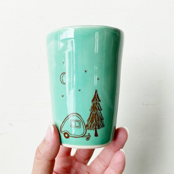 Camper Ceramic Cup green