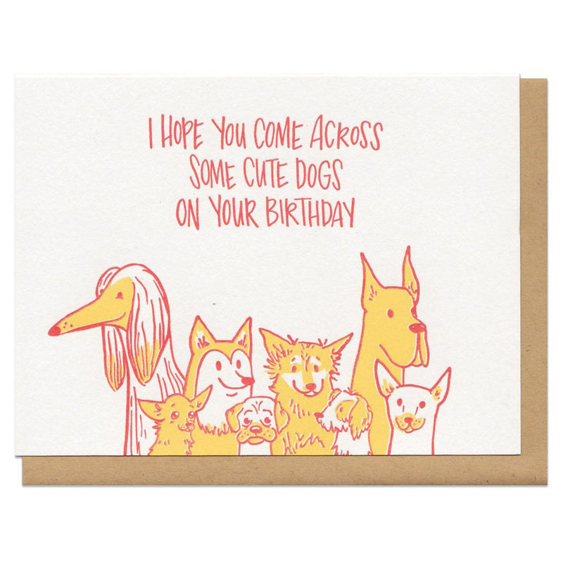 Cute Dogs Birthday Greeting Card
