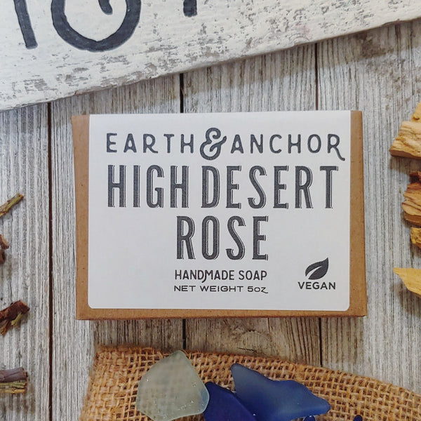 High  desert rose vegan soap