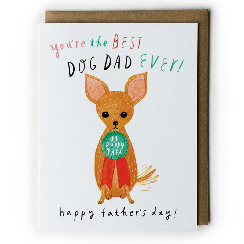 best dog dad father's day greeting card