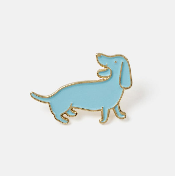 Doxie Blue Enamel Pin