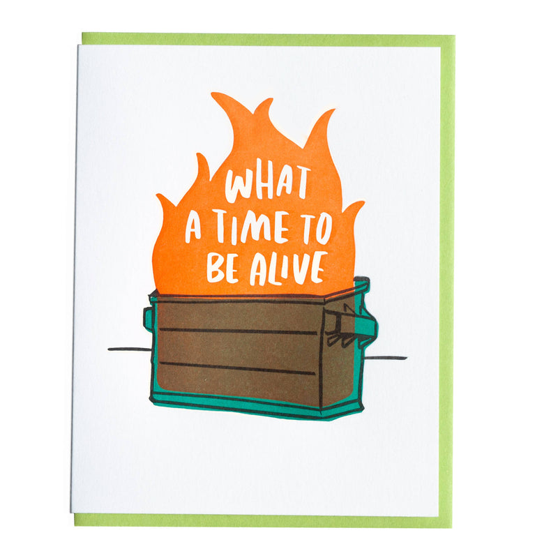 Dumpster Fire Greeting Card