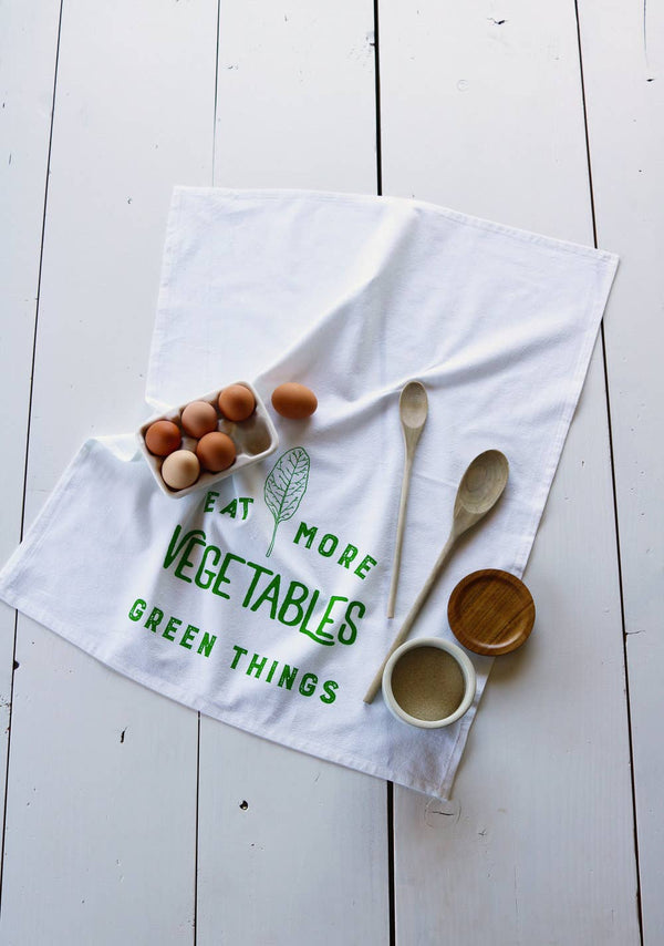 Eat More Vegetables Tea Towel