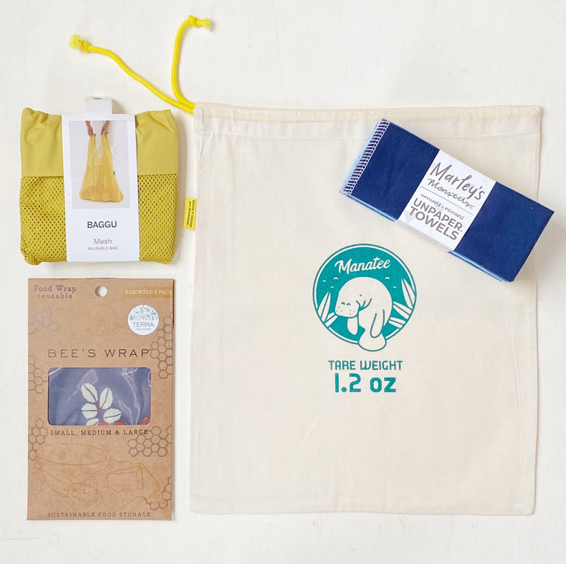 Eco friendly starter kit for shopping and kitchen