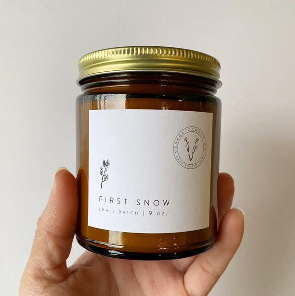 First Snow 9 ounce candle