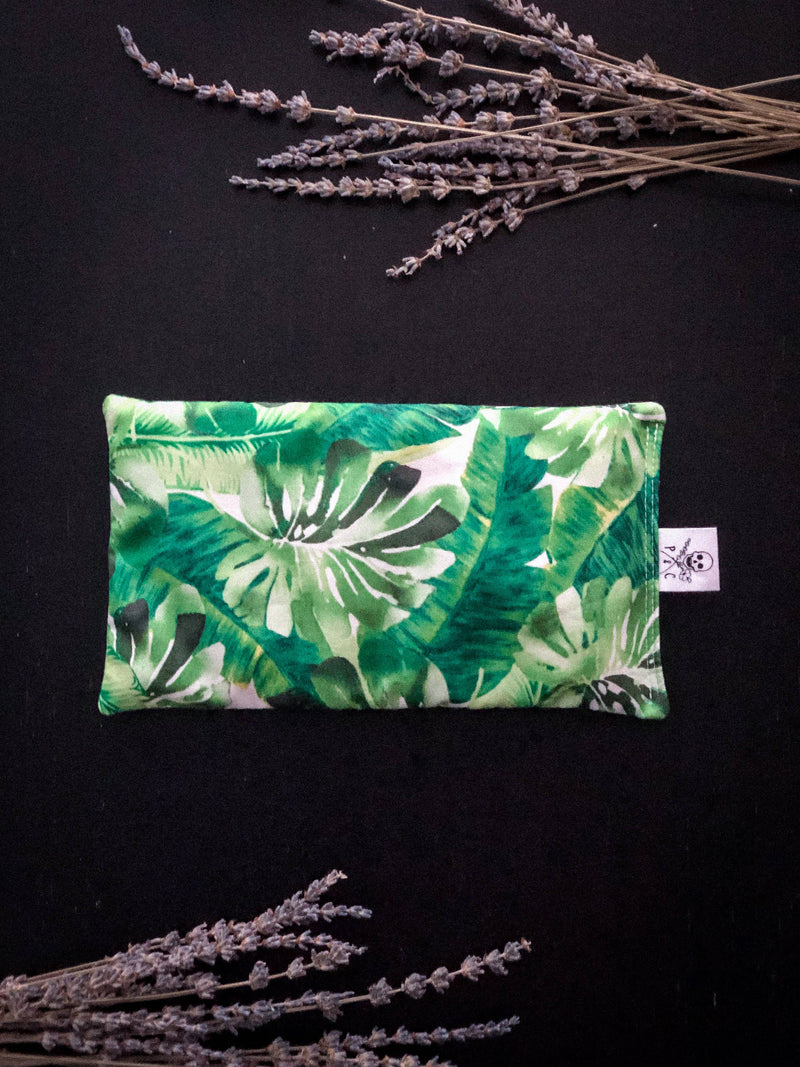 Flaxseed and Lavender Natural Hot/Cold Pack - green floral print