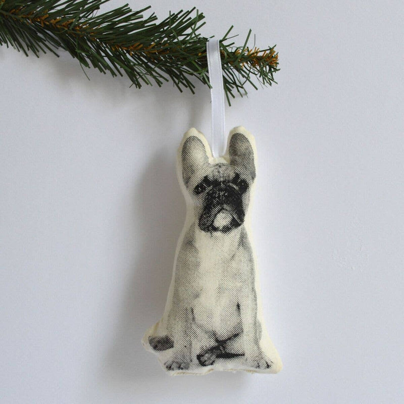 Frenchie Plush Ornament