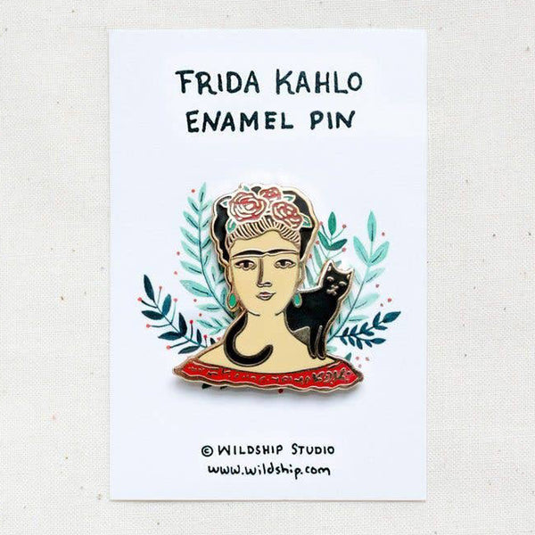 Frida Kahlo and Cat Enamel Pin