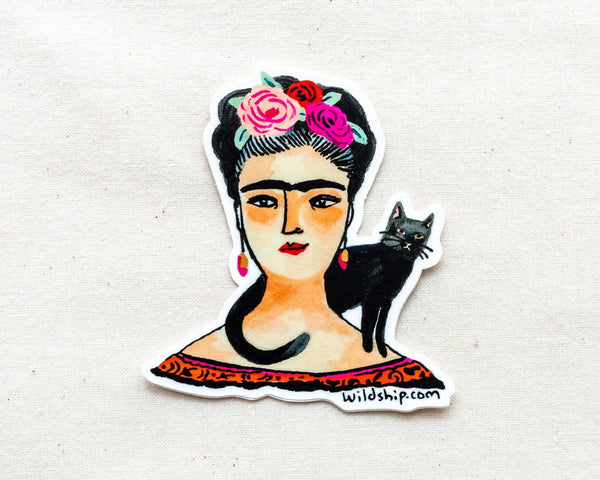Frida and Cat Sticker
