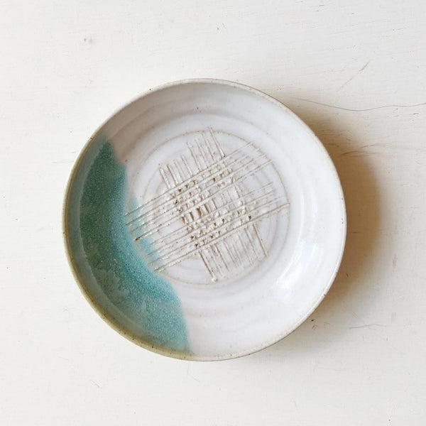 Garlic Rub Ceramic Plate