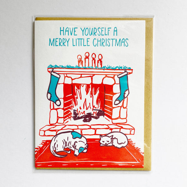 Christmas Hearth Card