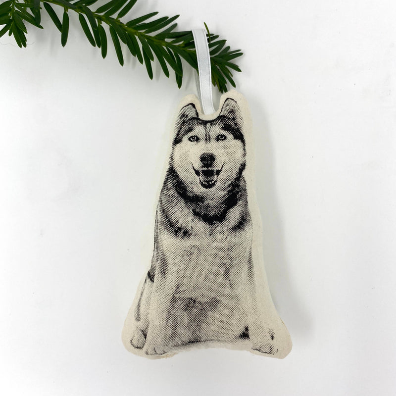 Husky Plush Ornament