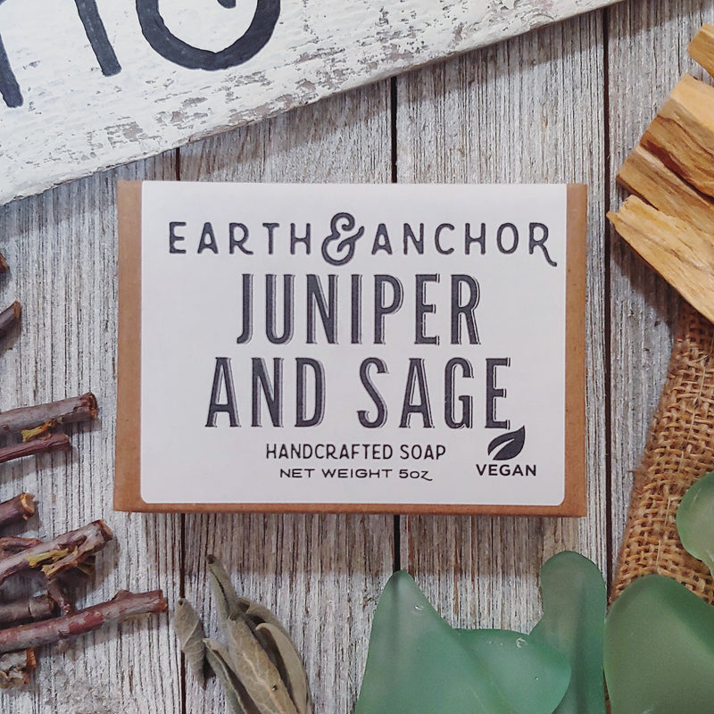 Juniper and sage soap