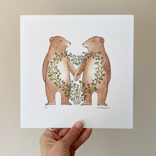 Love Bears Art Print