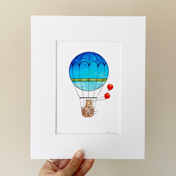 Balloon Bear Art Print