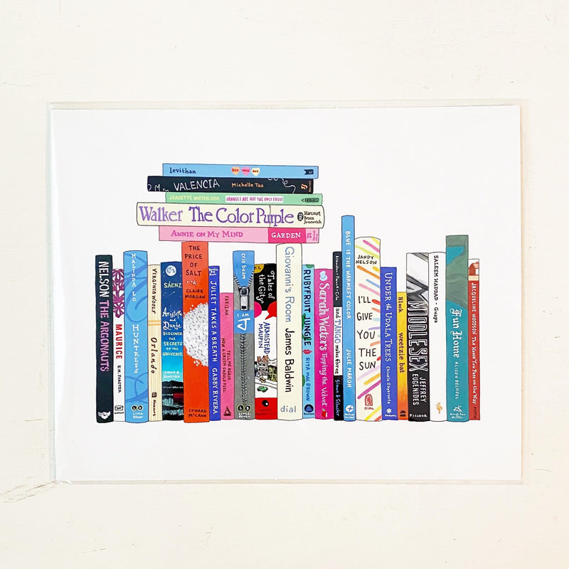 LGBTQ Essentials Books Art Print