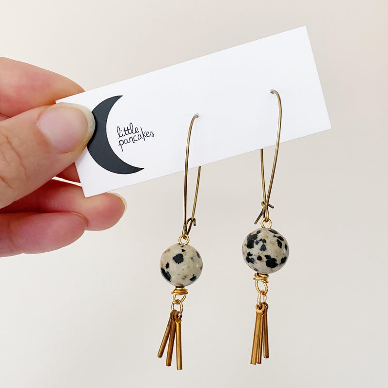 Tassel and Stone Earrings