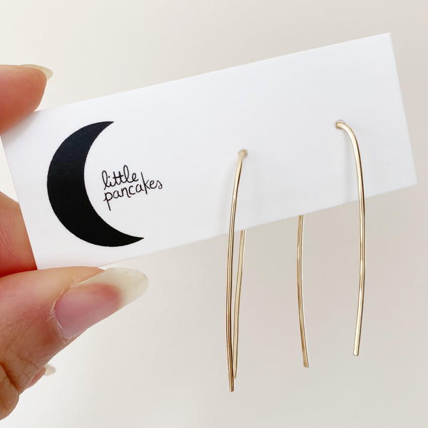 XL Gold Threader Earrings