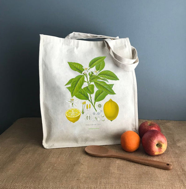 Lemon Canvas Tote Bag