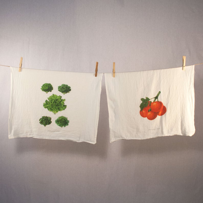 Lettuce and Tomato Tea Towel Set