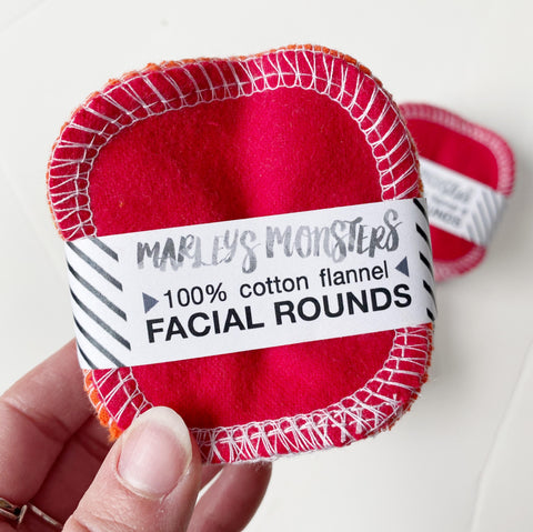 Eco-Friendly Facial Rounds - Rainbow