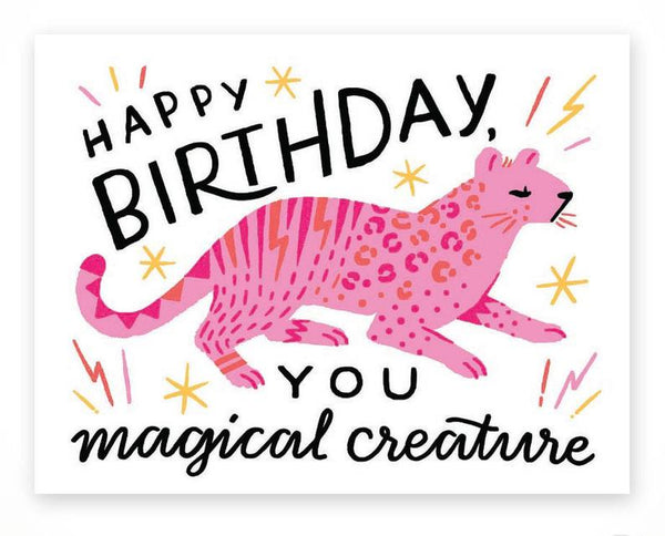 Magical Creature Birthday Card