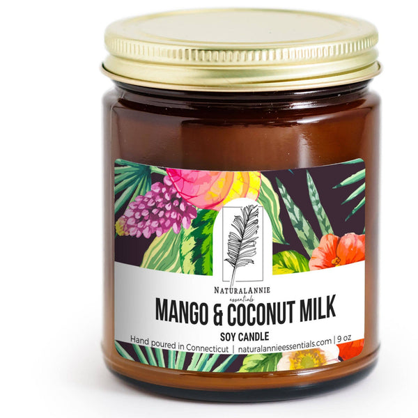 Mango and Coconut Milk 4 oz Candle