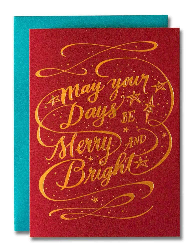 May Your Days Be Merry and Bright Card