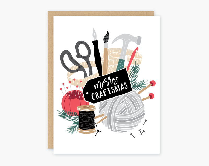 Merry Craftmas Holiday Card