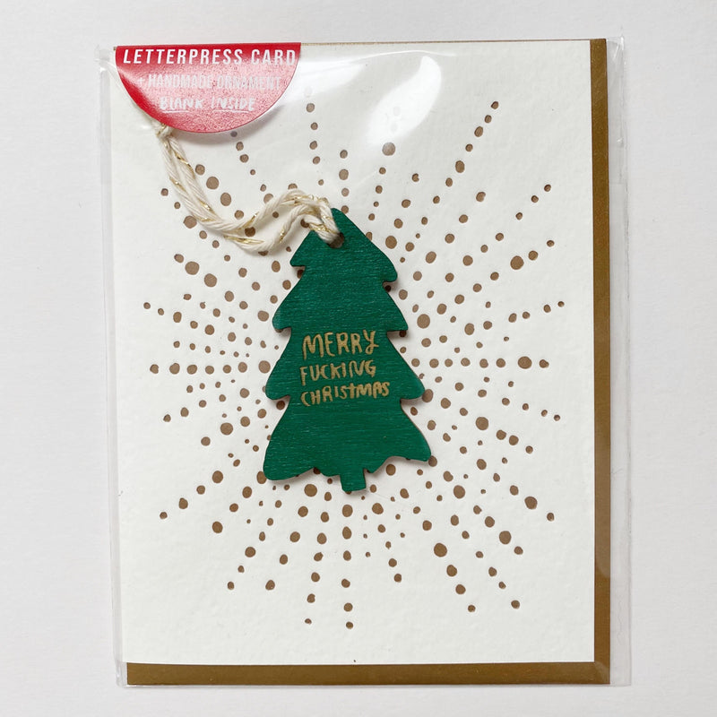 Merry F#$%ing Christmas Ornament w/ Card