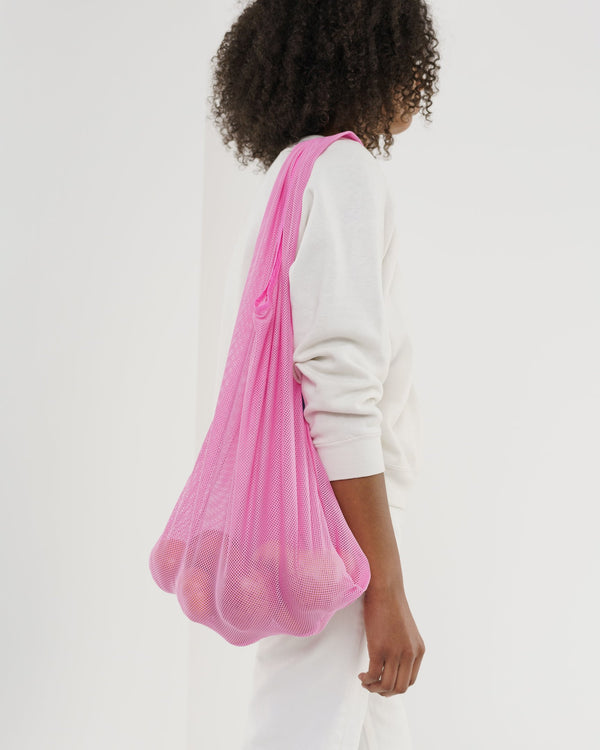 Mesh Market Bag in Pink
