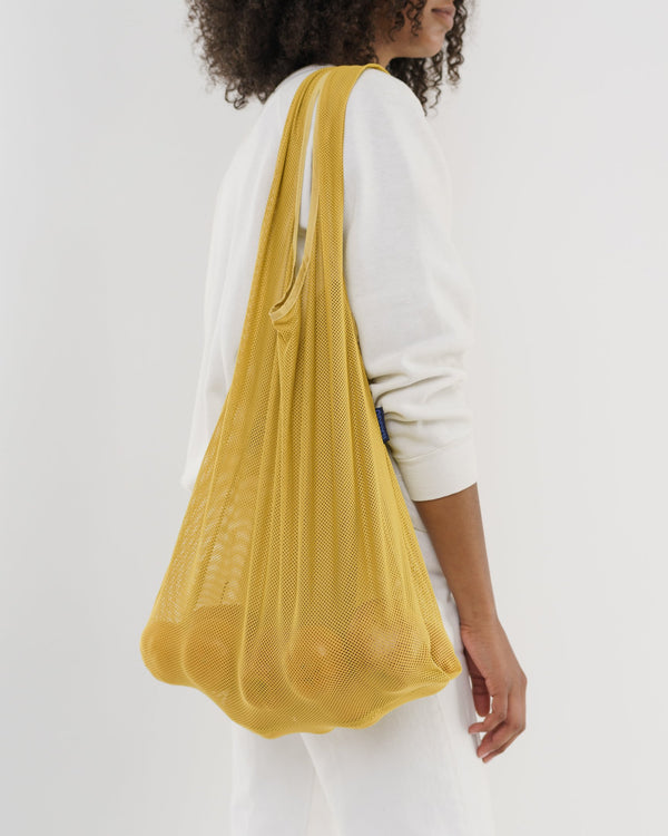 Mesh Market Bag in Yellow