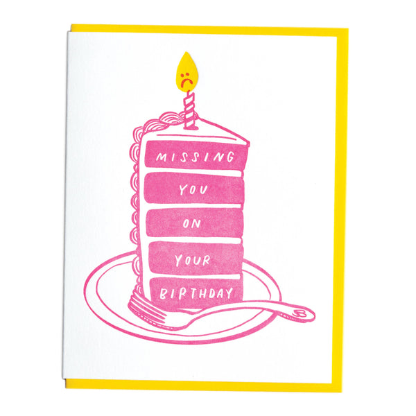 Missing You Birthday Card