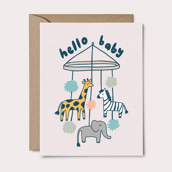 Animal Mobile Baby Card