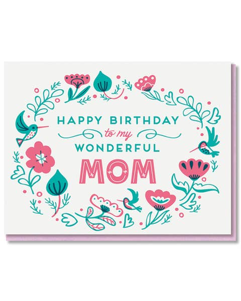Wonderful Mom Birthday Card