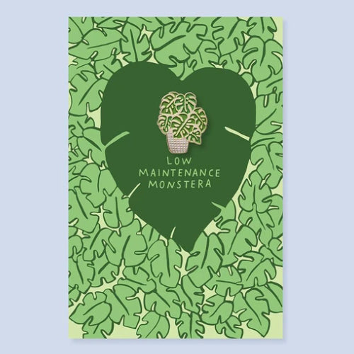 Monstera Enamel Pin