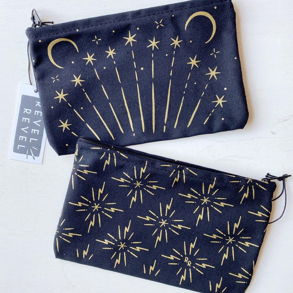 Celestial Pouch blue and metallic
