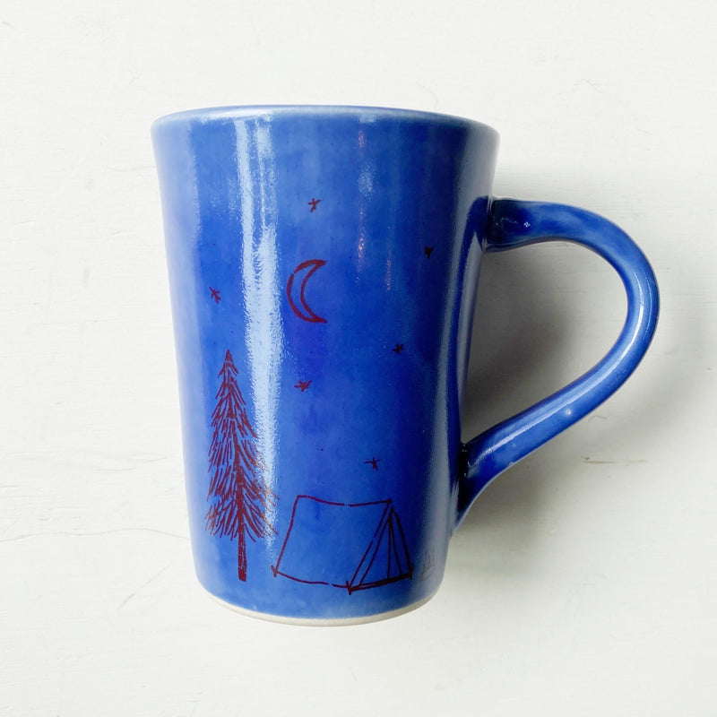 Camp Out Ceramic Mug blue pic 2