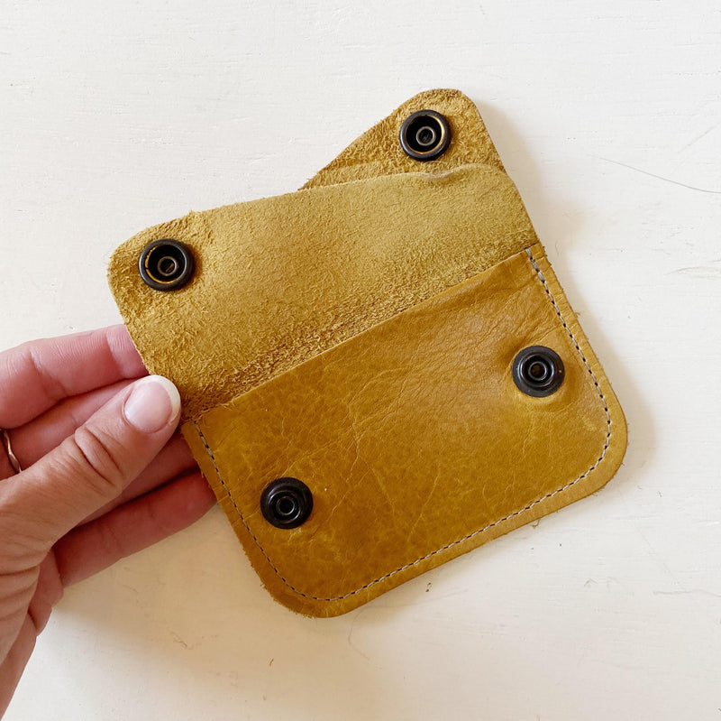 Mustard Yellow Card Wallet