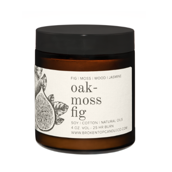 Oak moss Fig 4 ounce jar candle