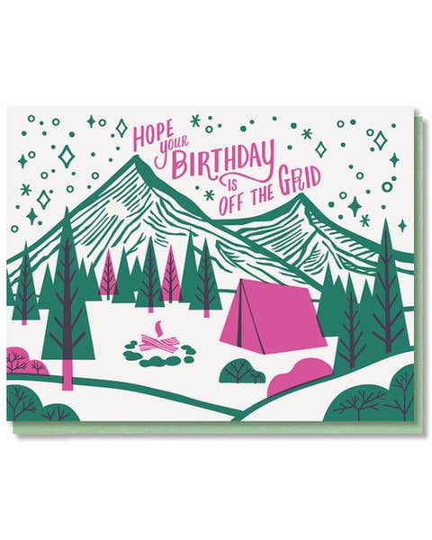 Off The Grid Birthday Card