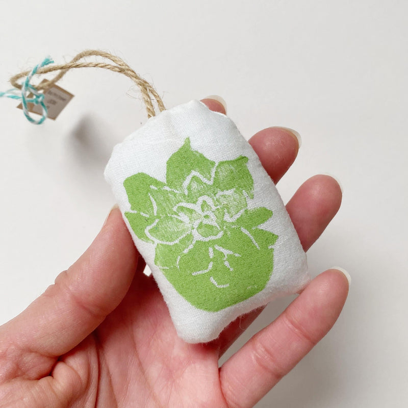 Block Printed Succulent Ornament